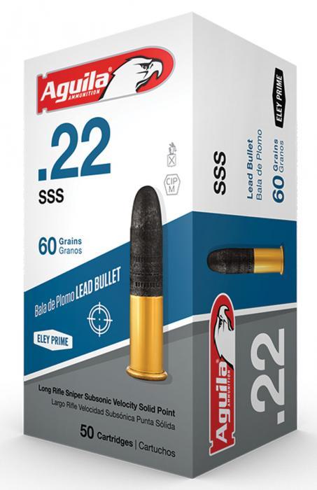 Aguila 1b222112 Sniper Subsonic 22 Long