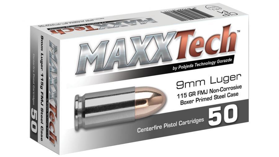 Maxxtech 9mm 115gr Fmj 50rd