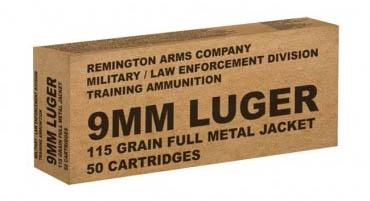 Remington 9mm 115gr FMJ Training Ammo