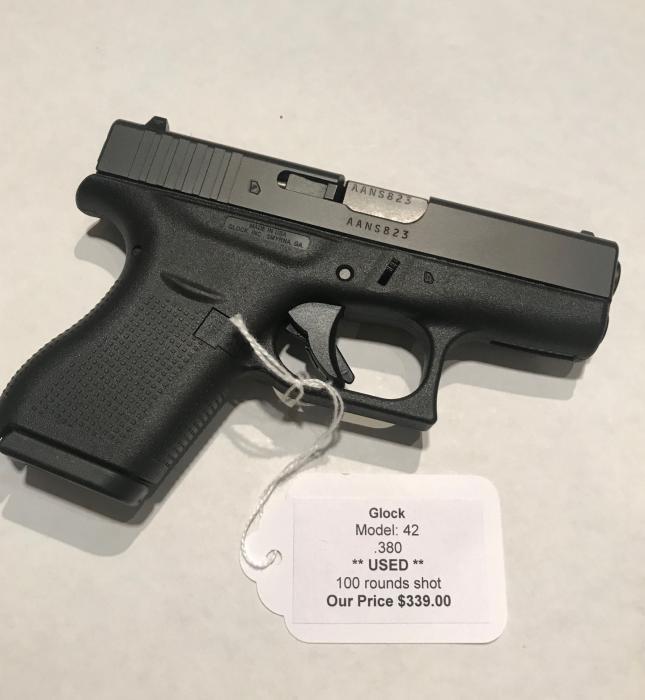 Used Glock 42 380 ACP | East Coast Ammo, Inc