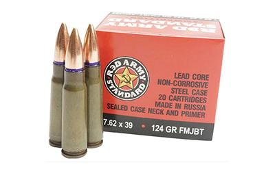 Cent Arms 7.62x39 124gr Fmj 20rds