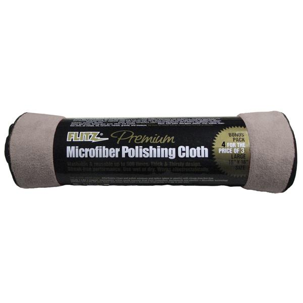 Flitz Starfiber Microfiber Polishing Cloth Grey