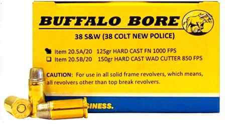 Buffalo Bore Ammunition 38s&w 125gr Hard