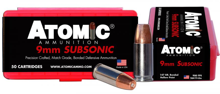 Atomic 00438 9MM 147 Subsonic 50/10