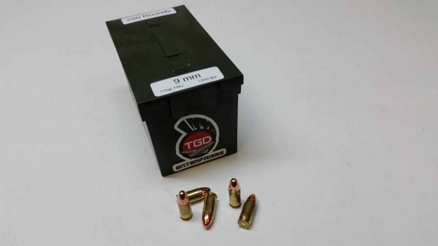 TGD 9mm 115 GR FMJ 250