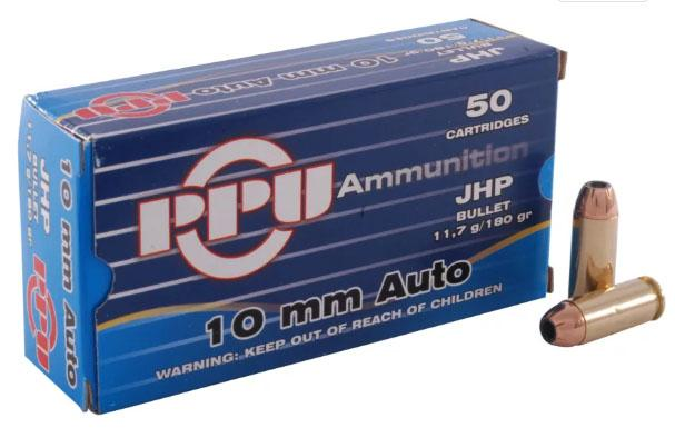 PPU Ppd10 10mm 180 JHP 50/10