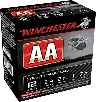 Winchester Aal1275 AA Target Loads 12
