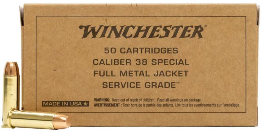 Winchester Sg38w 38spl 130gr FMJ 50rd