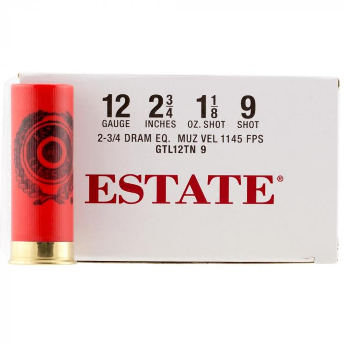 """Estate 12ga 2.75"""" 1 1/8oz 9shot"""