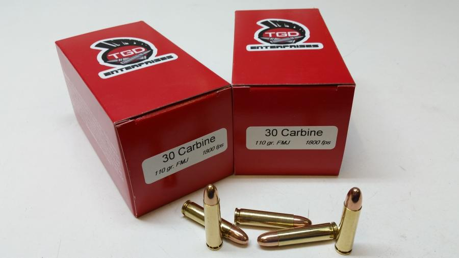 TGD 30 Carbine 110 GR FMJ