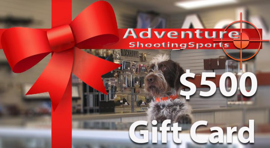 $500 Adventure Outdoor Gift Card