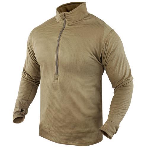Base II Zip Pullover Tan LRG