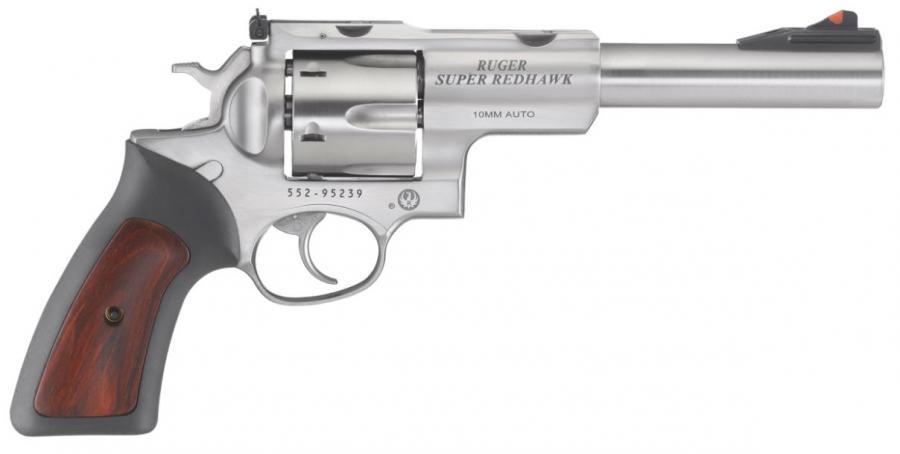 "Ruger Spr Rdhwk 10mm 6.5"" Stn"