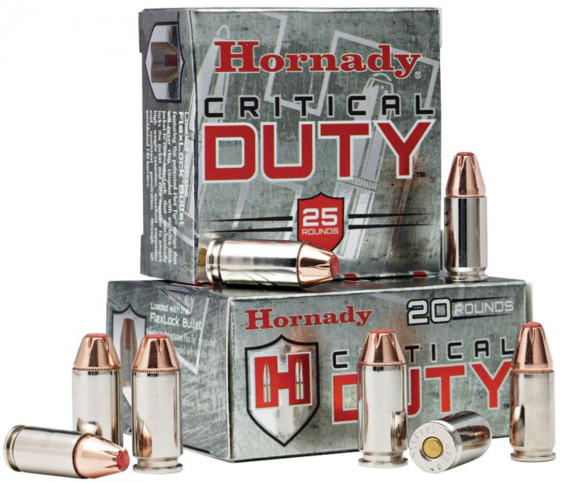 Hornady Critical Duty 9mm +P Flexlock