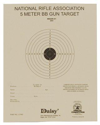 Daisy Air Rifle Paper Target 50