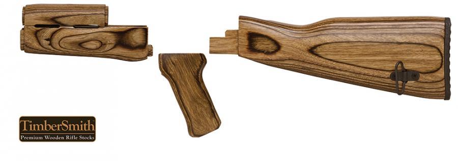 Tapco AK Rifle Laminate Brown | ARMS-R-US LLC