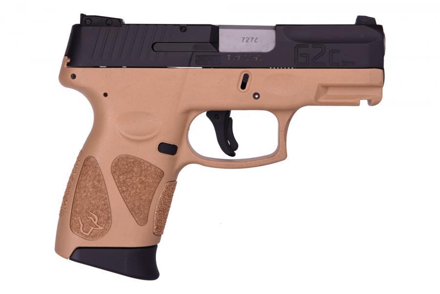 """Taurus G2C 9mm Blk/fde 3.2"""" 12+1"""