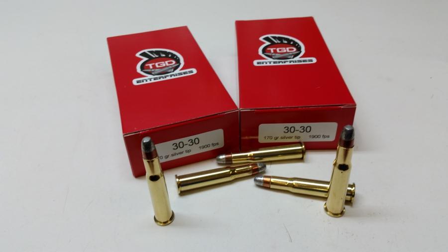 TGD 30-30 WIN 170 GR Silver