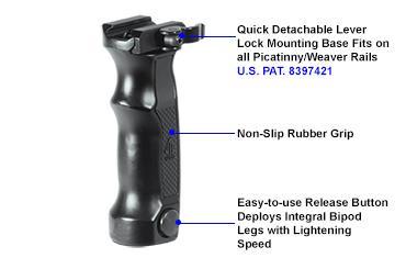 UTG Mnt-dg01q Quick Release Bipod Grip