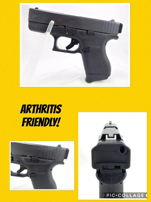 Glock/glock Inc 43 Arthritis Friendly 9x19