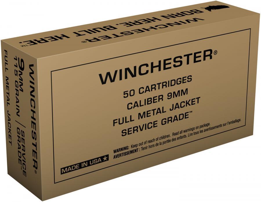 Winchester Service Grade 9mm 115gr FMJ
