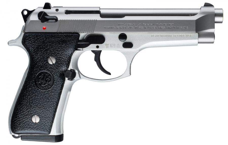 """Beretta 92fs Inox 9mm 4.9"""" 15rd"""