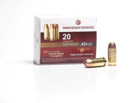Dynamic Research Terminal Shock 150gr 45acp