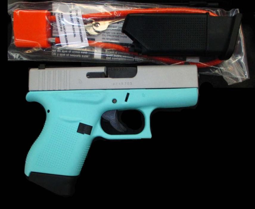 Glock 43 Robins Egg Blue 9mm