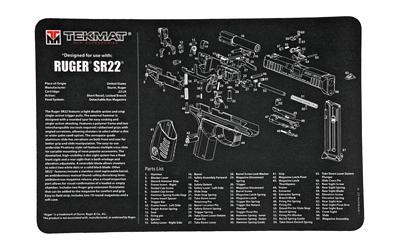 Tekmat Pistol Mat Ruger Sr22 Blk