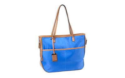 Bulldog Tote Nylon Purse Elec Blue