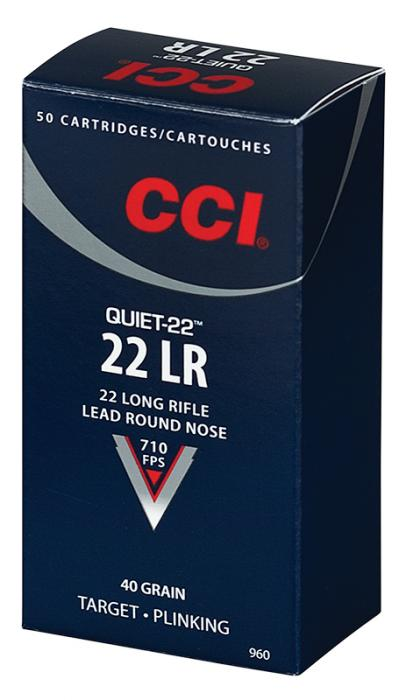 CCI 22lr 40gr LRN Quiet-22 50