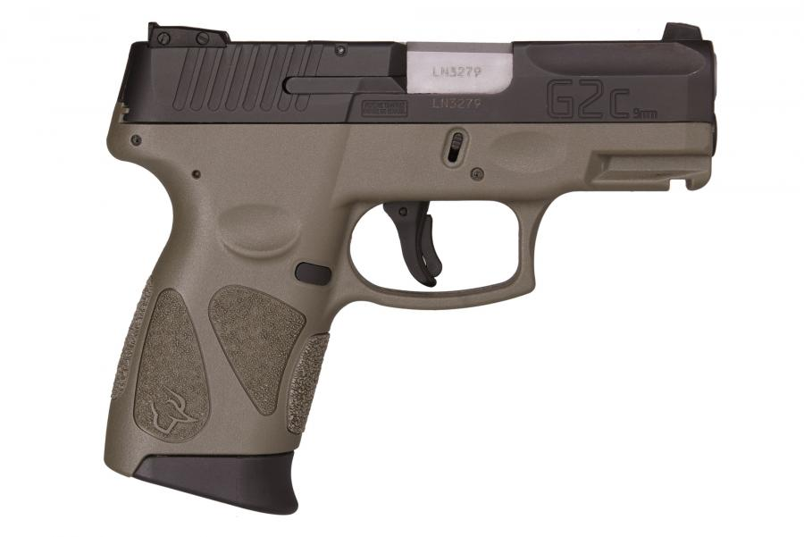 "Taurus G2C 9mm Blk/odgreen 3.2"" 12+1"