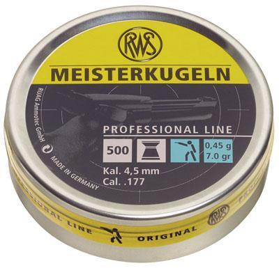 RWS Meisterkugelnvpellets .177 Flat Nose Pellets