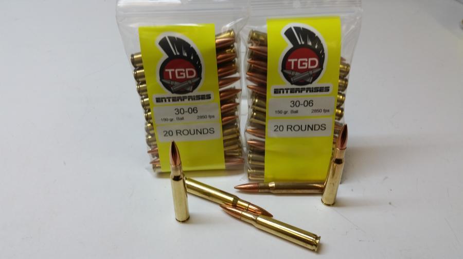 TGD 30-06 150 GR Ball 20rds
