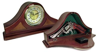 PSP Concealment Mantle Clock 14x7x3 Wood
