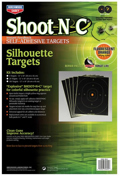 "Birchwood Casey Shoot-n-c Silhouette 12""x18"" 5"
