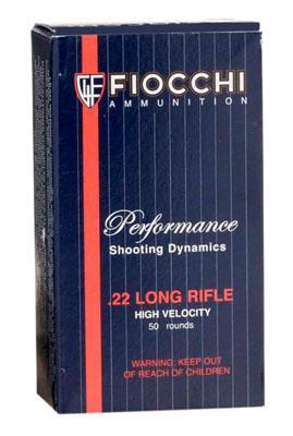 Fiocchi 22lr 40gr HV Cpsp 50box/100case