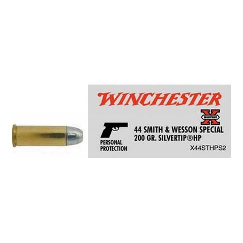 Winchester 44 S&W Special 200gr Silvertip