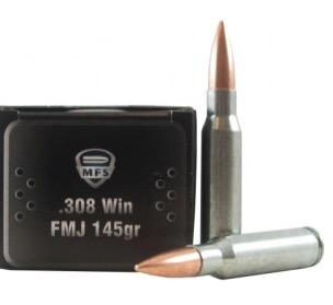 MFS 308win FMJ 145gr Mil-spec Steel