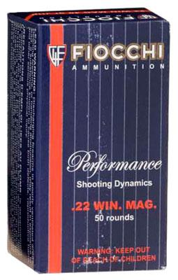 Fiocchi Pistol 22 Magnum Jacketed Hollow