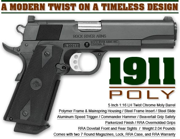 "RRA 1911 Poly Pistol 5"" 45acp"