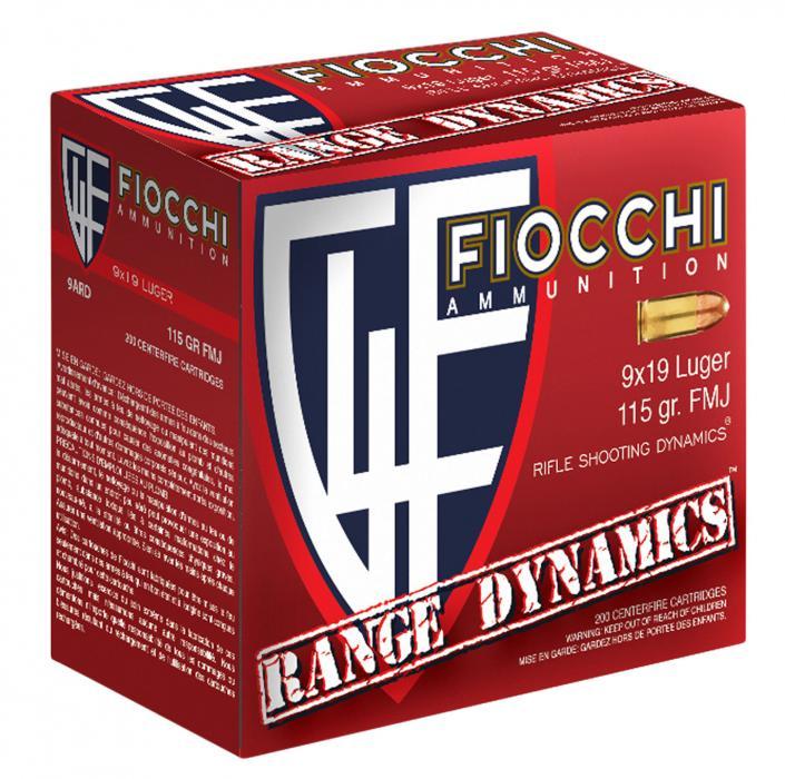 Fiocchi 9ard100 Range Dynamics 9mm Luger