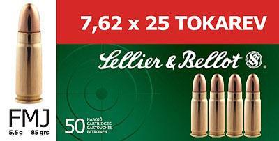 Sellier & Bellot 7.62mmx25mm Tokarev FMJ