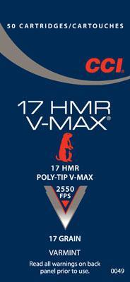 CCI 17hmr 17 HMR Poly-tip V-max