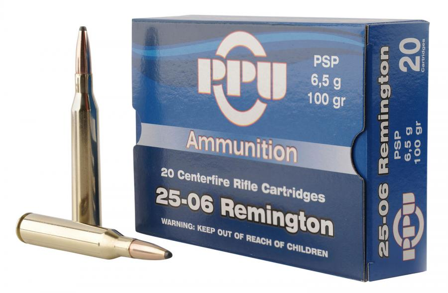 PPU Pp2506p Standard Rifle 25-06 Remington