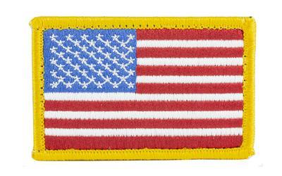 Bh Patch American Flag W/h&l R/w/b