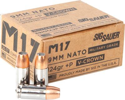 SIG E9mma2p-m17-20 124 JHP Vcrwn 20/10