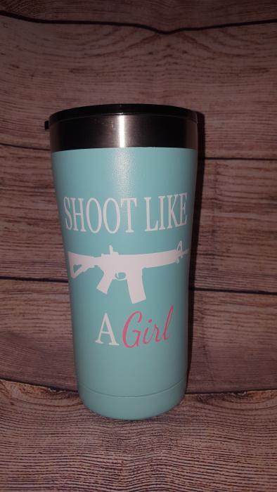 Shoot Like a Girl 20oz Tumbler