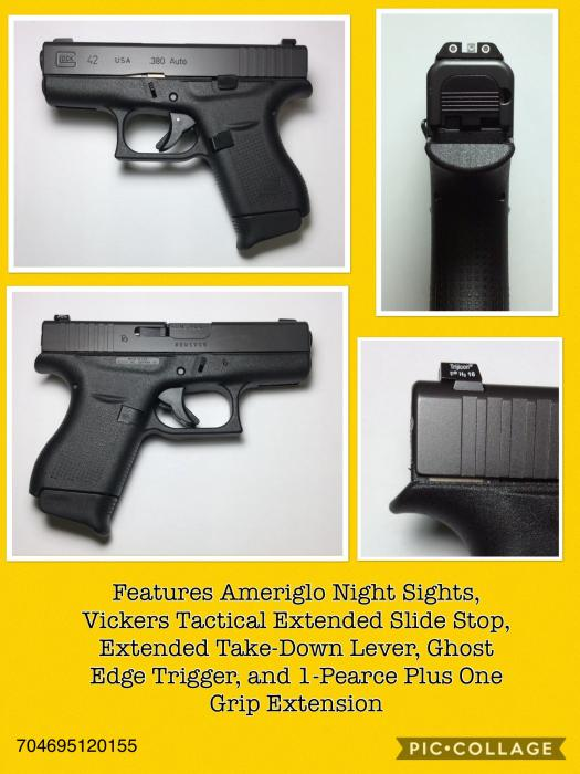 "Glock Inc 42 380 Auto 3.25"""