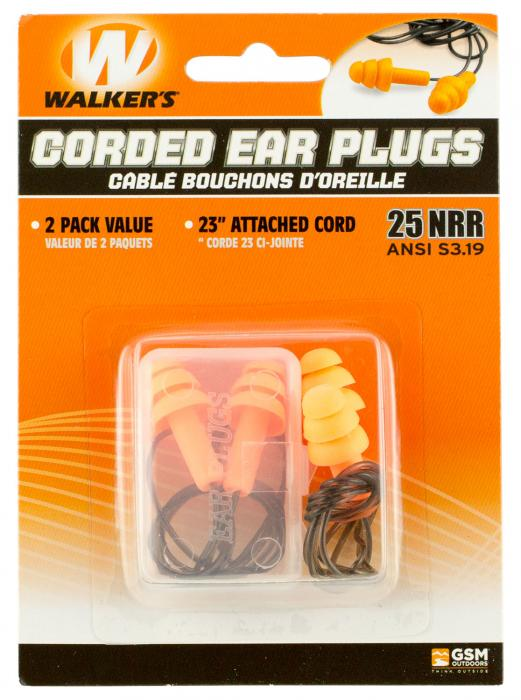 Wge Ear Plug Corded 2 Pk